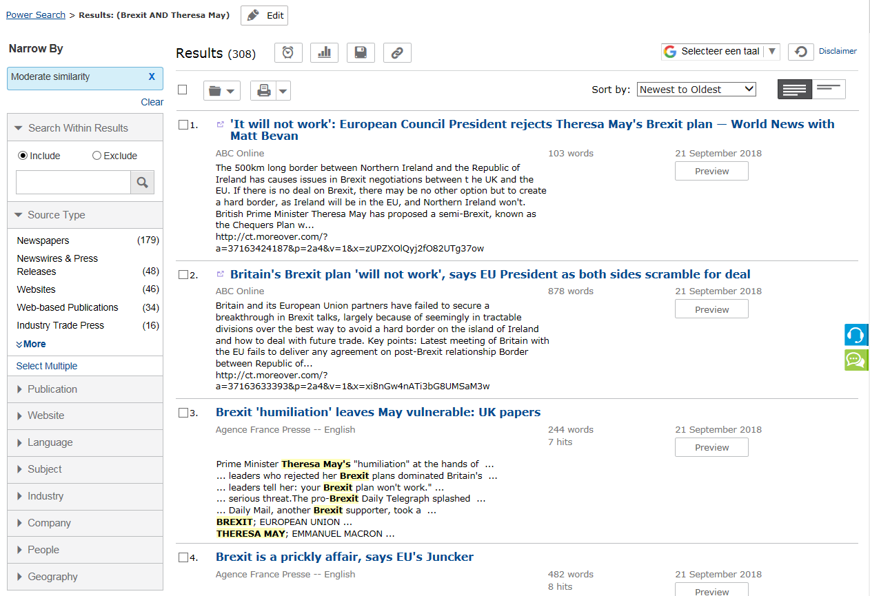 nexis screenshot
